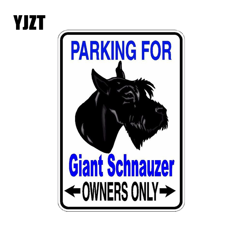 YJZT 10*14.2CM Giant Schnauzer Dog Hipster Cartoon Animal PVC Car Sticker C1-4542 standard schnauzer