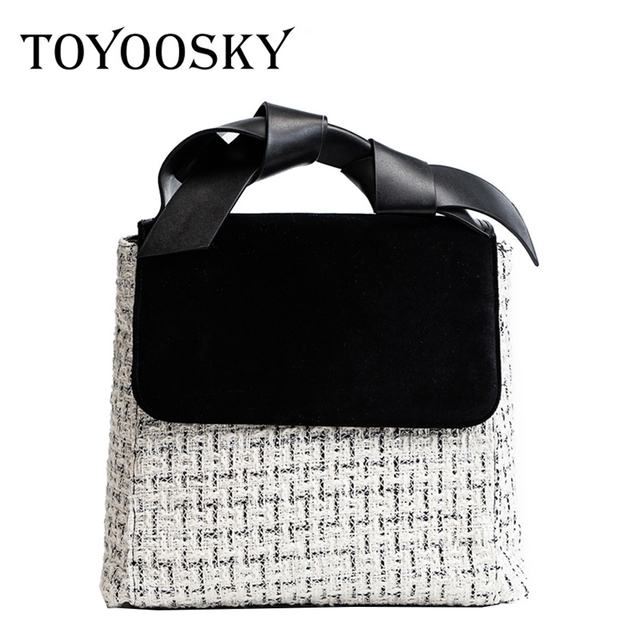 Toyoosky The Latest Fashion Women Clutch Woolen High Quality S Handbags Large Capacity