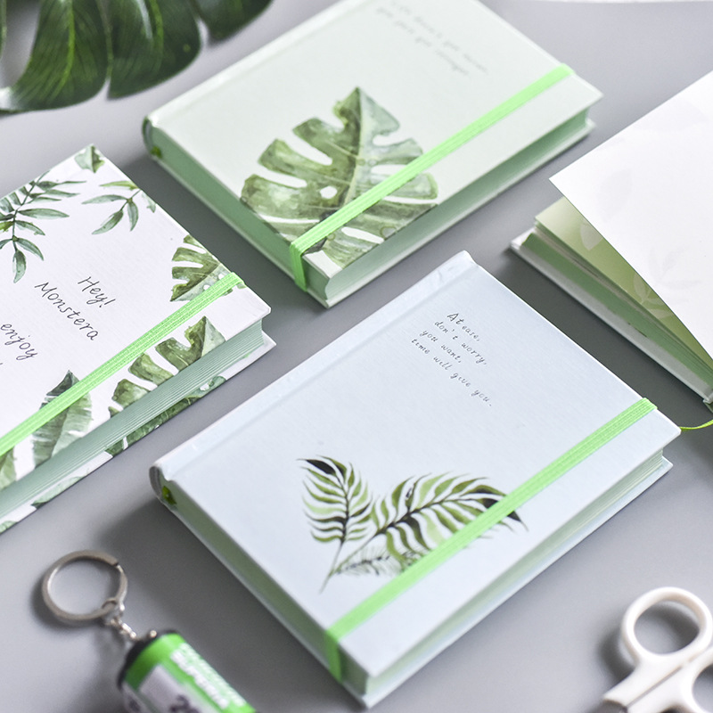 A6 Notebook Paper Planner Bullet Journal Agenda School Diary Note Book Plant Leaves Student Travel Notebook Binder Notbook