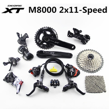SHIMANO DEORE XT M8000 Groupset 26 36T 28 38T 170 175Mm Cranksetจักรยานเสือภูเขา 2x11 Speed 40T 42T 46T M8000 Derailleurเบรค
