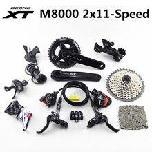 SHIMANO DEORE XT M8000 Groupset 26 36T 28 38T 170 175mm Kurbel Mountainbike 2x11 Speed 40T 42T 46T M8000 Schaltwerk Brems