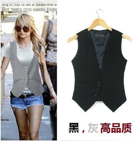 Плюс размер Моден дамски костюм Жилетка, Causul Vest, Ръкавица Slim lady Vest, размер S-XXXXL