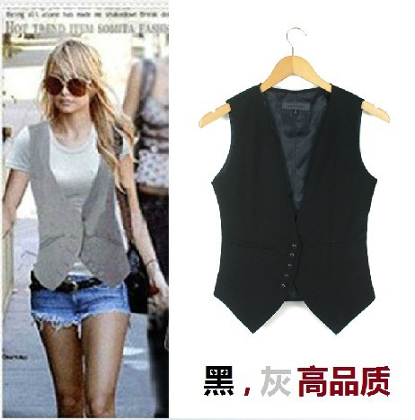 Plus size Fashion women suit Waistcoat , Causul Vest , Sleeveless Slim lady Vest , size S-XXXXL