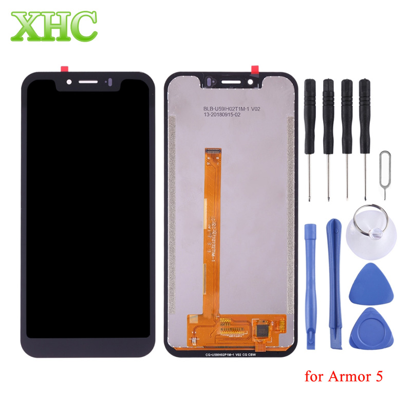 LCD Screen Digitizer Full Assembly Replacement for Ulefone Armor 5 6 6E Mobile Phone Repair Part