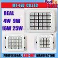 X10 DHL Frete grátis 4 W 9 W 16 W 25 W Levou Recesso luz da lâmpada da Grade 110-240 V iluminação LED downlight lâmpada com motorista