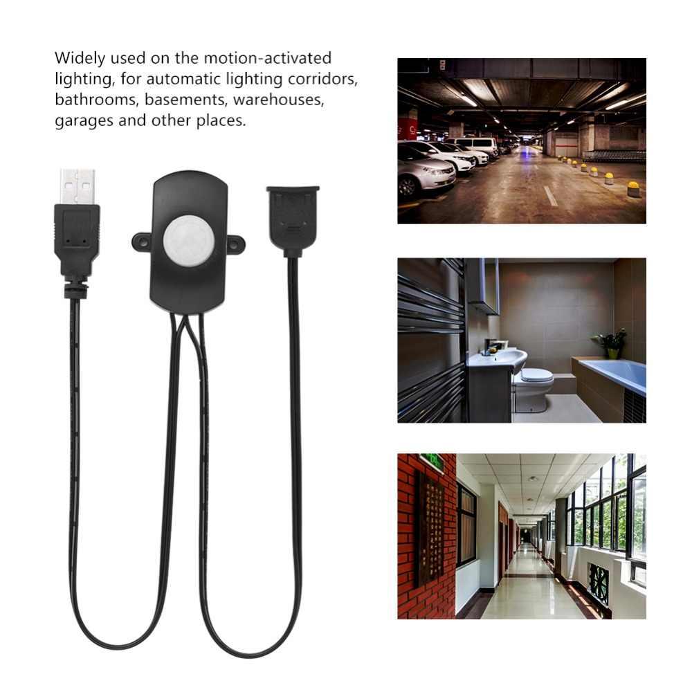 Регулируемый инфракрасный датчик движения из pir детектора переключатель для коридора гардероб подстилка USB СВЕТОДИОДНЫЙ светильник полоса автоматический датчик переключатель