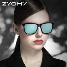 UV400 Driving Goggles Brand Designer Square Aluminum Magnesium Glasses Male Shades Oculos de sol Polarized Men Women Sunglasses