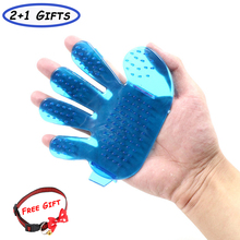 Cat Deshedding Grooming Gloves Cat Silicone Brush Glove Hair Removal Bath Massage Combs for Pet cat grooming glove mascot pet hair glove removal brush mitts deshedding brush combs cat dog combs supplies bath cleaning massage