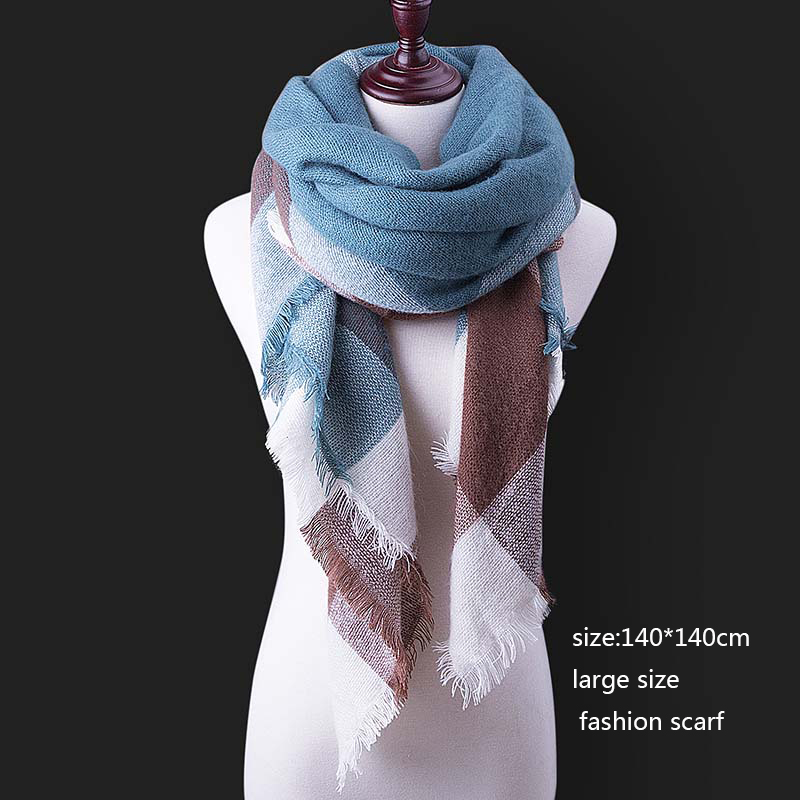 Evrfelan Winter Women Blanket Scarf Warm Shawl Female