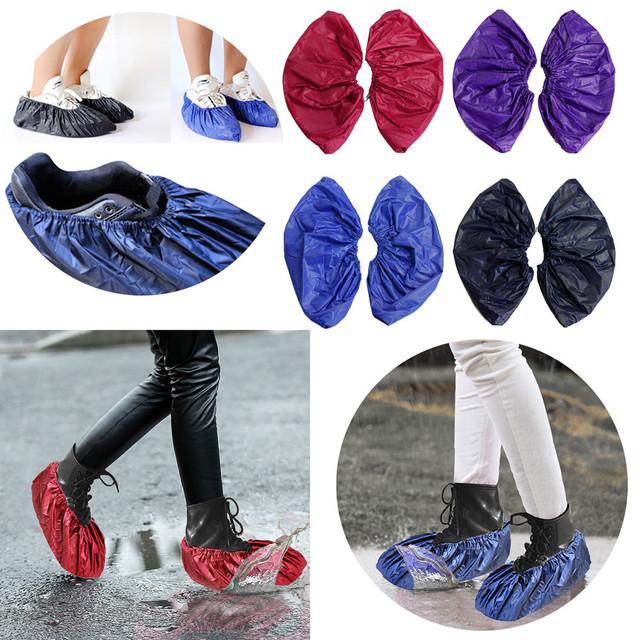 2018 Hot Sale Shoes Storage Reusable Unisex Rain Overshoes Waterproof Anti-slip Shoe Boot Rain Days Useful Shoes bag