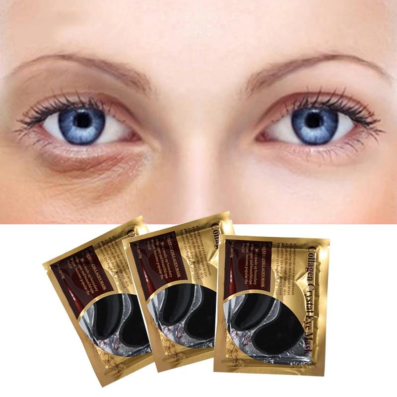 10pcs=5pair Black Collagen Eye Mask Crystal Eyelid Patch Anti Wrinkle Moisture Under Eye Dark Circle Remover Eye Pad Face Masks 3