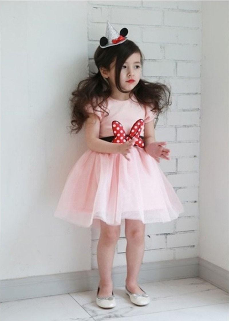 HTB1CIyYLpXXXXalXVXXq6xXFXXXS - 2017 Summer Baby Girls Dress Minnie Mouse Dresses For Girls Princess Minnie Dress Birthday Party Children Clothes Kids Costume