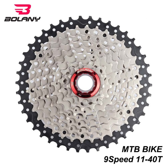 US $24 2 10% OFF|BOLANY MTB Bike Freewheel 9 Speed Cassette 11 40T Gear  Ratio Bike Parts Mountain Bicycle Sprocket For Shimano Sram-in Bicycle
