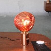 Современные расплава Стекло настольные лампы светодиодные настольные лампы настольные гостиная Лава Спальня Гостиная стоя Декор светильн