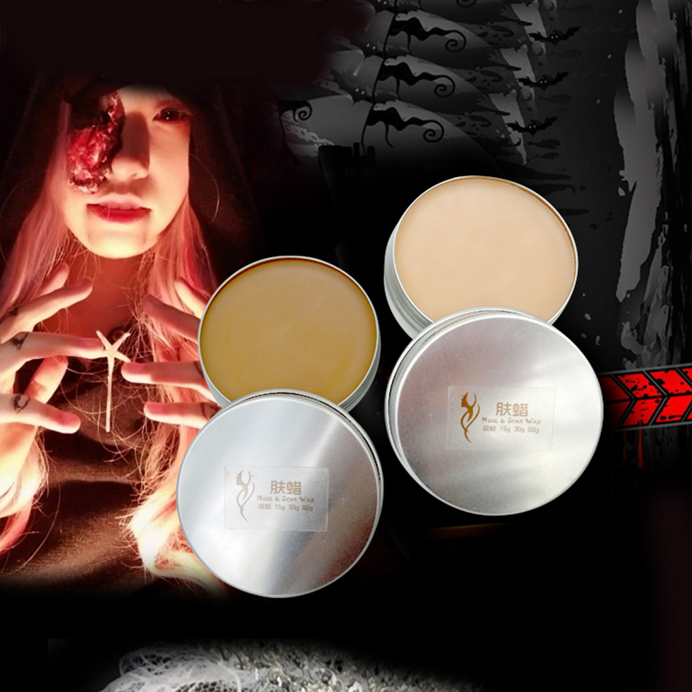 Halloween Makeup Zombie Scars Tattoos with Wounds Fake Scar Blood Makeup Nose Wax Stick Face Wax Halloween Party Dropshipping