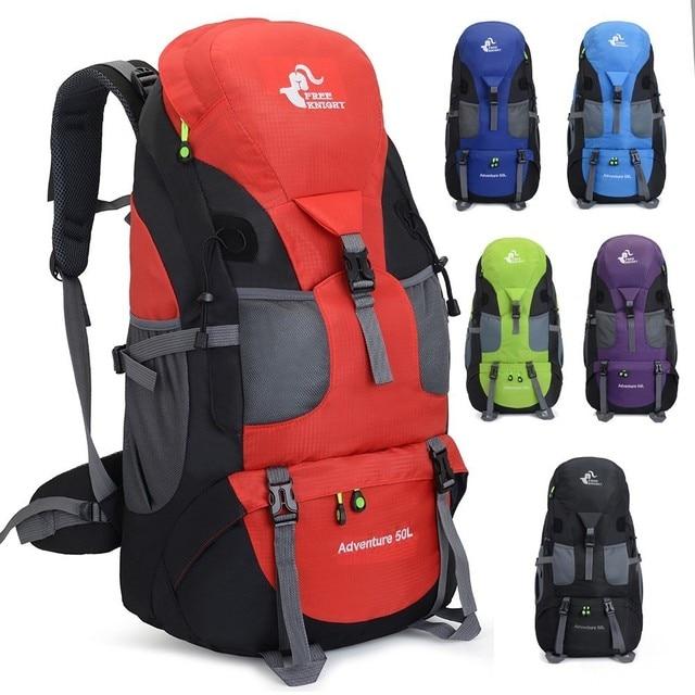 50L Backpack Hiking Waterproof Trekking Bag Outdoor Travel 1