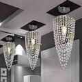 1-luz Chrome LED lámpara cristalina Moderna iluminación D17 * H45cm AC110V-256V color Transparente