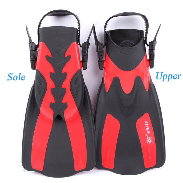 Short Swimming Flippers with Heels