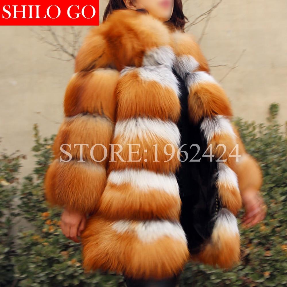 Femmes Fourrure Hiver Qualité Luxe Tout Manches Red Nouvelle Manteau Fox Peau Rouge De Grande Longues Fur Mode Taille Renard À Haute GqSzUMVp