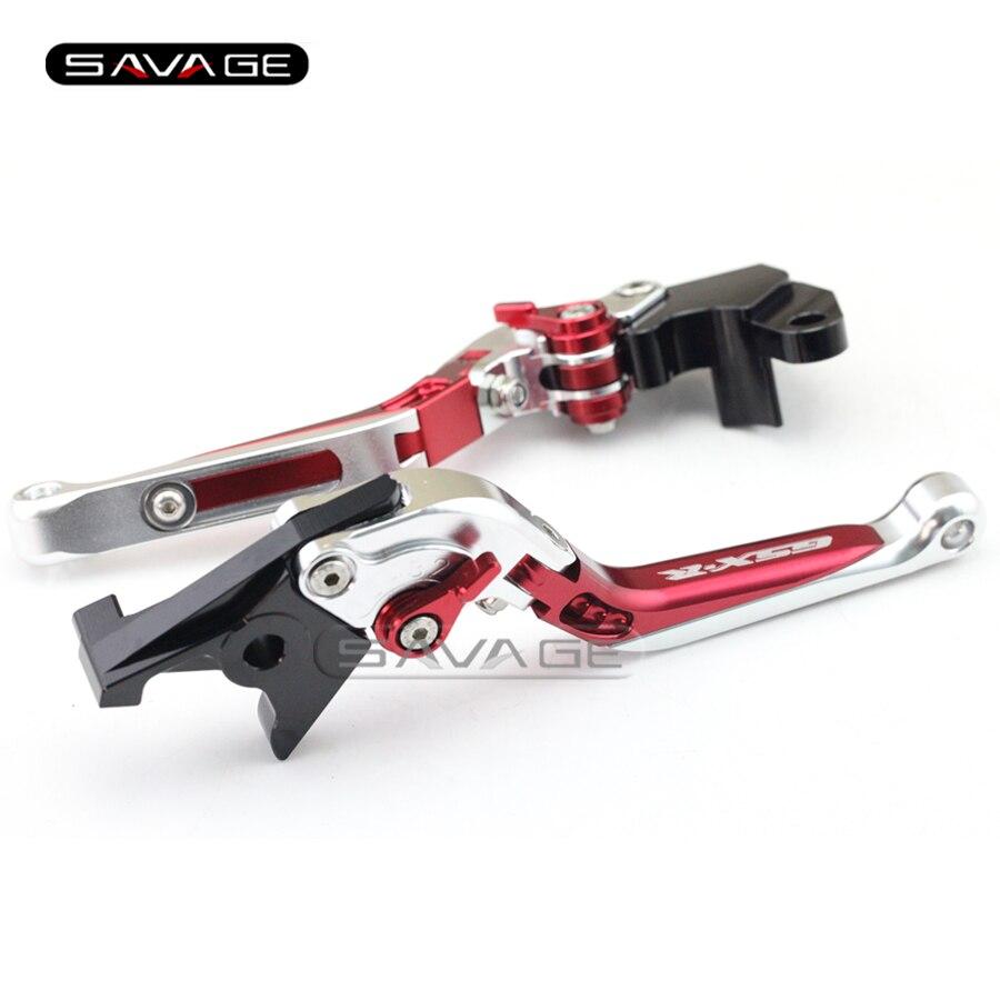 For SUZUKI GSXR 600/750 GSXR600 GSXR750 96-03, GSXR1000 01-04 Motorcycle Adjustable Folding Extendable Brake Clutch Lever Red+S new motorcycle adjustable folding extendable brake clutch lever for suzuki gsxr 600 750 gsxr600 gsxr750 96 03 gsxr1000 01 2004
