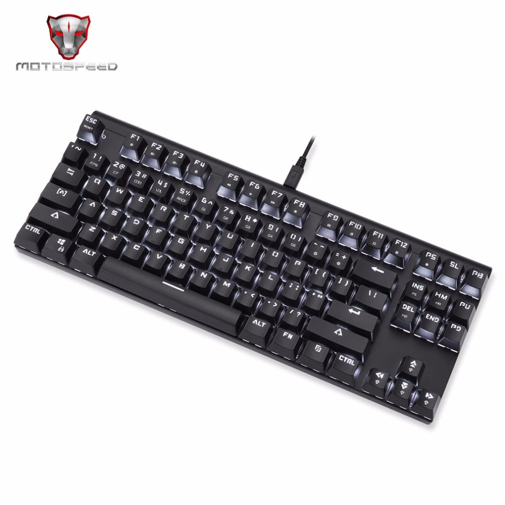 Motospeed CK101 Wired Mechanical Keyboard 87 Keys Game Keyboard LED Backlight Anti-Ghosting for For PC Laptop Games multi color backlight game machine keyboard wired keyboard 87 keys 104 keys for desktop pc notebook