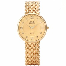 hot deal buy g&d top brand luxury gold womens wristwatches fashion quartz watches ladies bracelet watches relogio feminino gifts reloj mujer