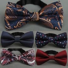 RBOCOTT мужской галстук-бабочка золотой Пейсли галстук-бабочка бизнес Свадебный бант в горошек синий и черный галстук-бабочка для жениха вечерние аксессуары