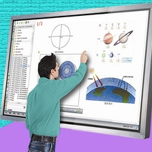 55 inch wall mounted kiosk HD LCD touch all in one TV comput