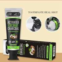 100% natural herbs Activated Bamboo Charcoal Teeth Whitening Toothpaste Black Mint Flavor stain removal whitening toothpaste