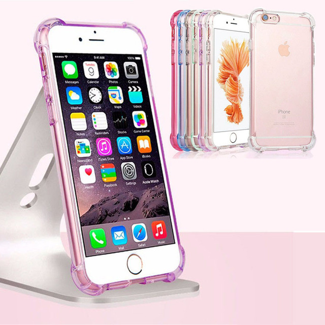 official photos a5ae4 54794 US $0.81 10% OFF|For iPhone 6 7 Anti Knock Armor Hybrid Silicon Transparent  Soft TPU Shockproof Case For iPhone 6 6S 7 Plus 5S 5 SE Cover Cases-in ...