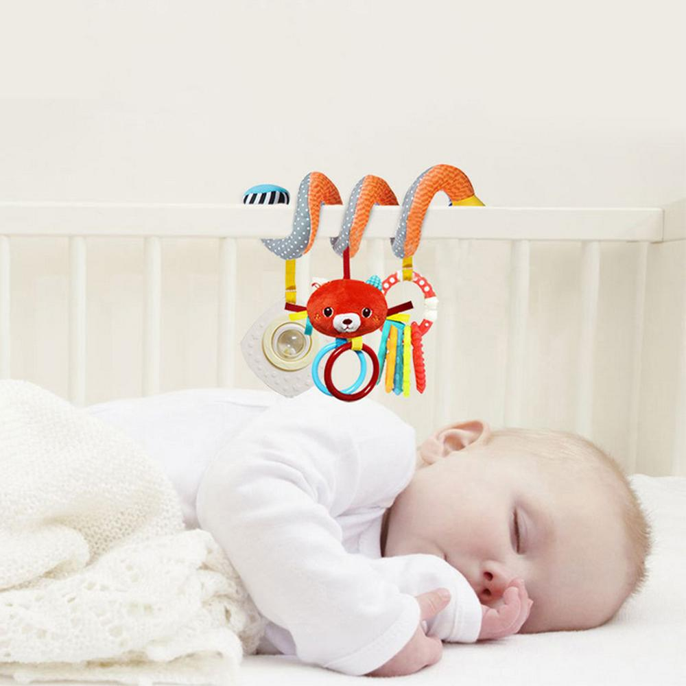 Surwish Cute Infant Babyplay Baby Toys Activity Spiral Bed Stroller Toy Set Hanging Bell Crib Rattle Toys For Baby Gift 2019