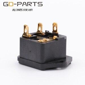 Image 4 - GD PARTS IEC320 C14 męski gniazdo zasilania AC z uchwytem bezpiecznika pozłacany mosiądz przewód zasilający wlot Hifi Audio DIY AC250V 10A 1PC
