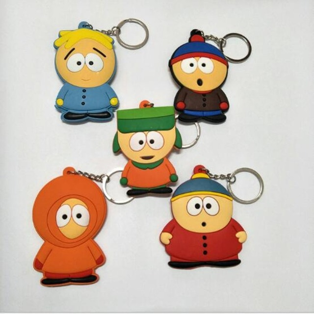 america anime south park pvc pendant keychain stan marsh kyle