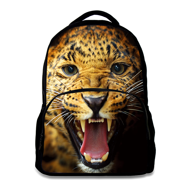 Animal Leopard Backpack School Backpack Portable School Bag For Teenagers  Boys Girls High Quality Material Backpack Bags