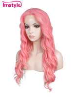Imstyle Wavy Synthetic hot-pink 24
