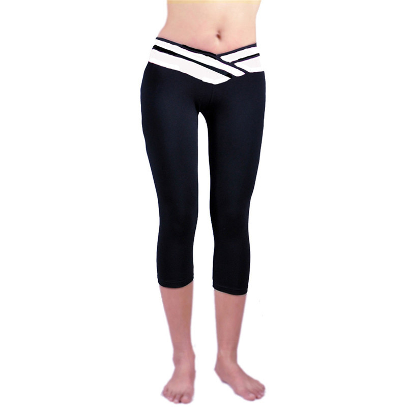 Women Workout Fitness Waistband   Capri   Leggings   Pants