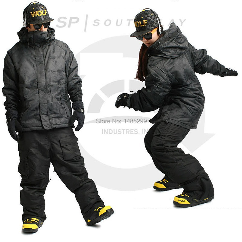 New Edition ''Southplay'' Winter Waterproof 10,000mm Warming Military(North Jacket + Black Pants)Sets