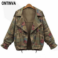 Spring Army Green Jacket Women Coats and Jackets Floral Jacket Woman Fashion Military Womens Coats Chaquetas Florales 2019