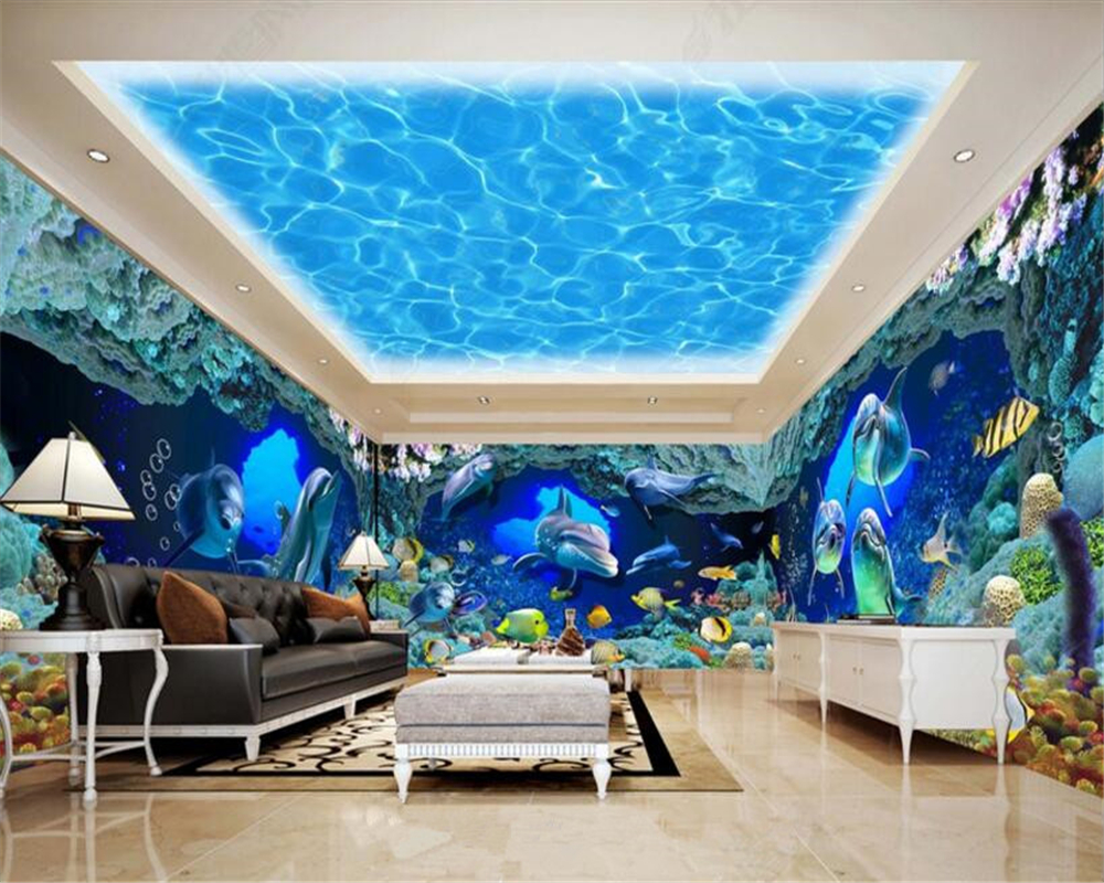 beibehang papel de parede 3d wallpaper high quality fantasy ocean world theme space background wall fashion waterproof