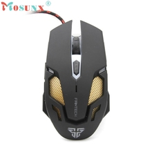 Beautiful Gift New Adjustable 2400DPI Optical Wired Gaming Game Mice Mouse For Laptop PC Wholesale price Apr1