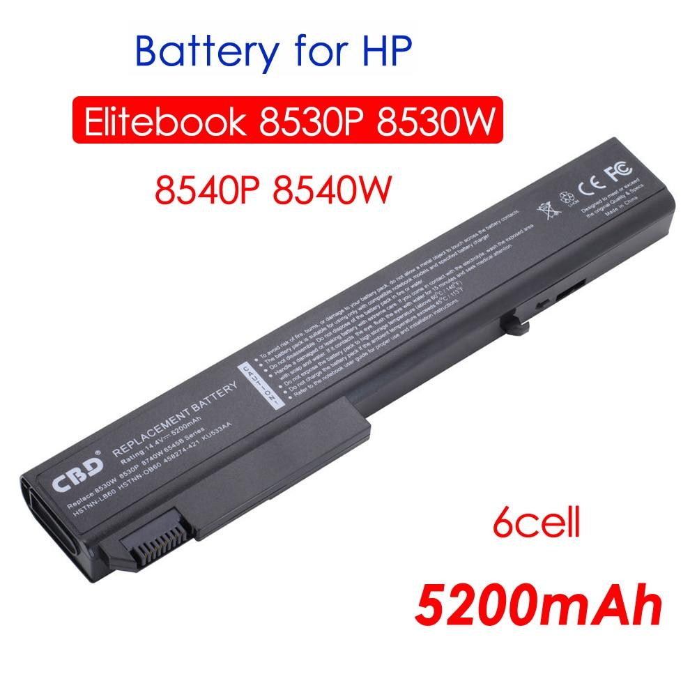 Vervanging Gloednieuwe Laptopbatterij voor HP EliteBook 8530p, 8530w, - Notebook accessoires