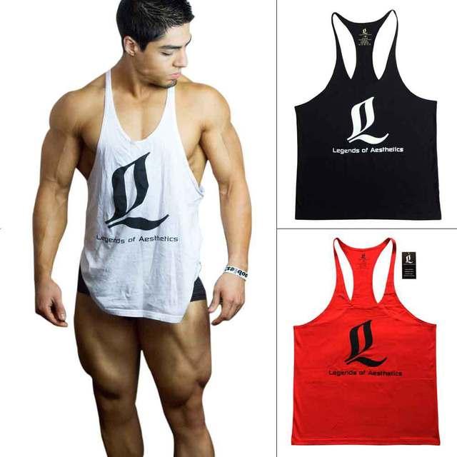 3ffb42b5428e3 Bodybuilding Stringers Gym Tank Top Men Golds Gym Shark Zyzz LOA Fitness  Singlet Vest Muscle Undershirt Canotte Bodybuilding