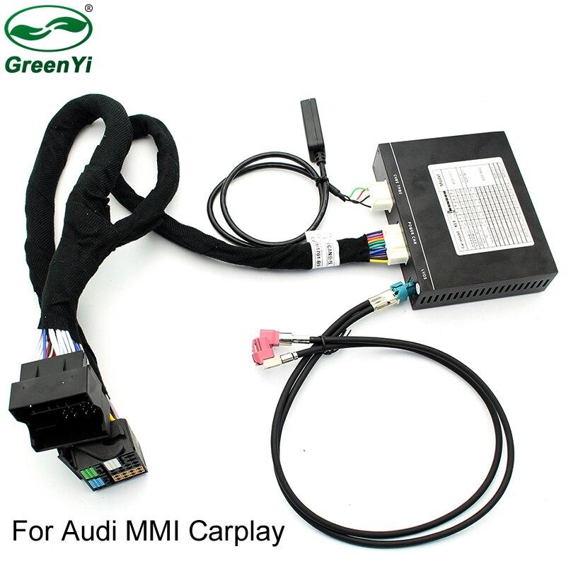 Interface vidéo avec Apple Carplay Android DVD Auto pour A3 A4 A5 A6 Q3 Q5 Q7 mise à niveau d'écran d'origine système MMI iOS AirPlay