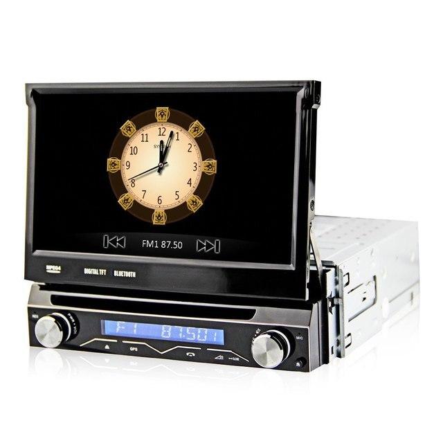 Новый 7 дюймов 1 Din Автомобильный DVD Плеер, Gps-навигация в-черточки Съемная Передняя Панель Авто Радио Аудио Стерео с Функцией TV