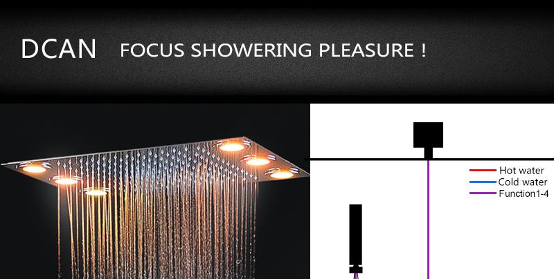 DCAN Bathroom Thermostatic Mixer Valve Brass Chrome Finish Shower Faucet Mixer Valve 3-4 Ways Faucet Bath Faucet Accessories (6)