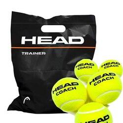 Profissional original cabeça tênis treinador bolas com livre tênis bola saco para treinamento e prática 6 ps/12 pces