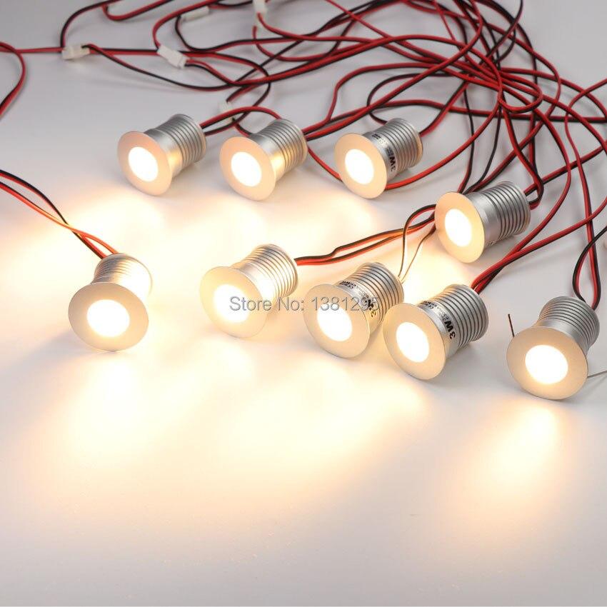 9 pcs/ensemble LED Sous L'éclairage Du Cabinet Dimmable Mini LED Encastré Vitrine Éclairage Sous Comptoir Étagère Meubles Cuisine Lumières 3 w