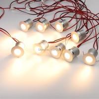 9pcs/Set LED Under Cabinet Lighting Dimmable Mini LED Recessed Showcase Lighting Under Counter Shelf Furniture Kitchen Lights 3W