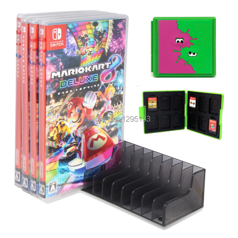 Protective Case Shell Game Card Case for Nintend Switch Storage Box CD / Disks Stand Holder for Nitendo Swtich