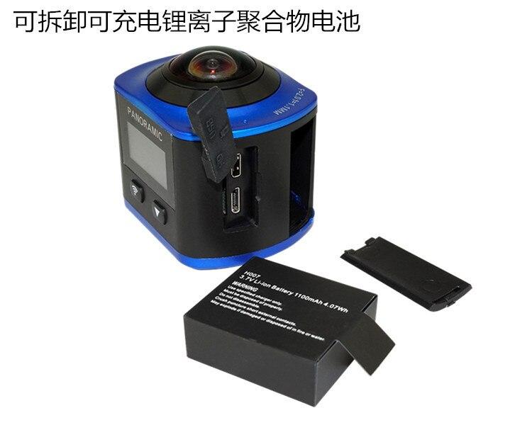 360 Panoramska Akcijska Kamera Wide Angle WiFi Vodootporna Kamera - Kamera i foto - Foto 4
